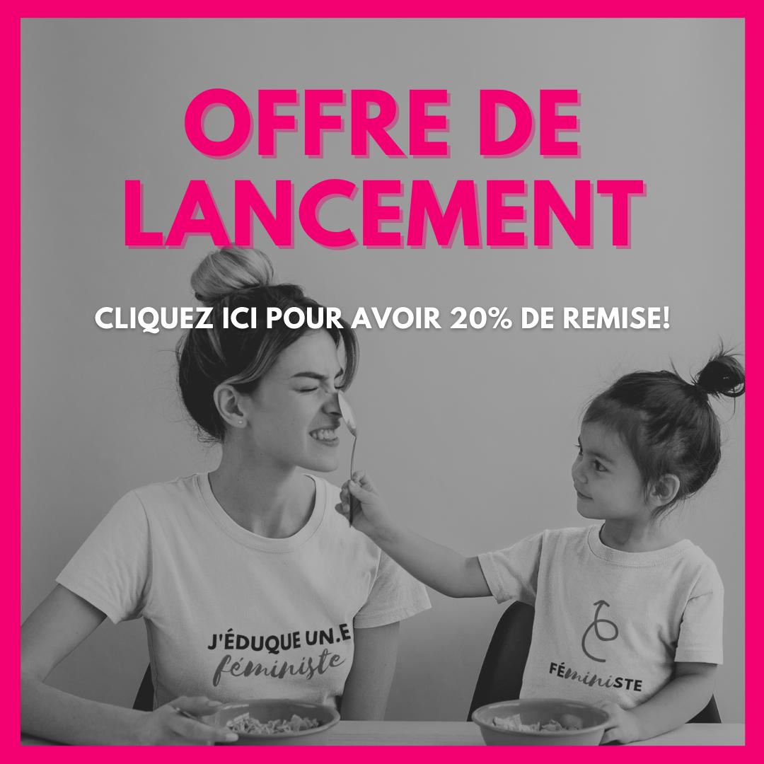 code promo promotion boutique feministe